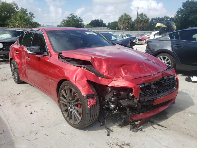 Salvage cars for sale from Copart Riverview, FL: 2019 Infiniti Q50 RED SP
