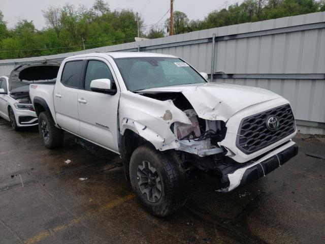 Salvage cars for sale from Copart West Mifflin, PA: 2020 Toyota Tacoma DOU