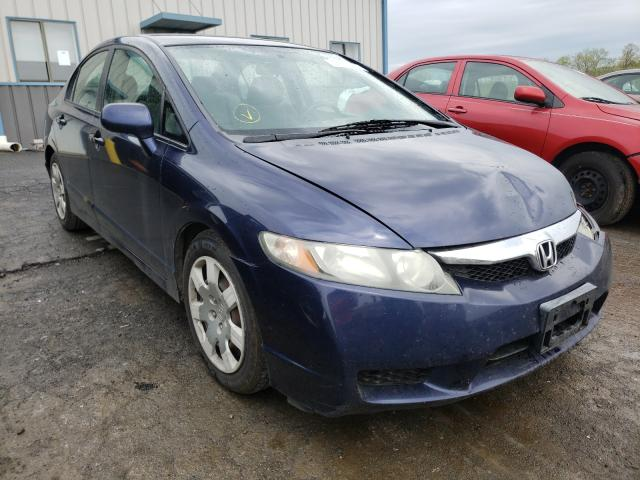 Salvage cars for sale from Copart Chambersburg, PA: 2009 Honda Civic LX