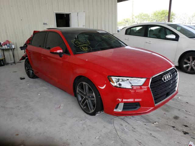Salvage cars for sale from Copart Homestead, FL: 2018 Audi A3 Premium