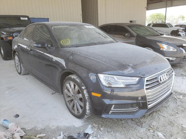 Salvage cars for sale from Copart Homestead, FL: 2018 Audi A4 Premium