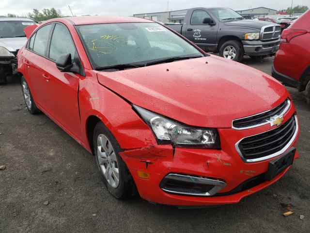 Salvage cars for sale from Copart Alorton, IL: 2015 Chevrolet Cruze LS