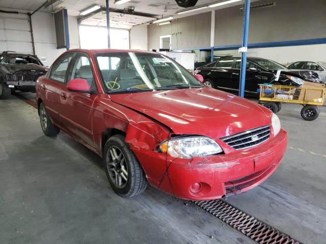 KIA salvage cars for sale: 2002 KIA Spectra BA