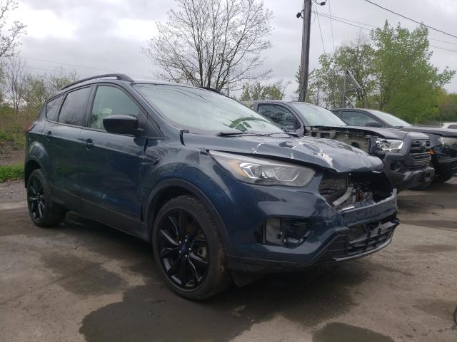 Salvage cars for sale from Copart Marlboro, NY: 2019 Ford Escape SE