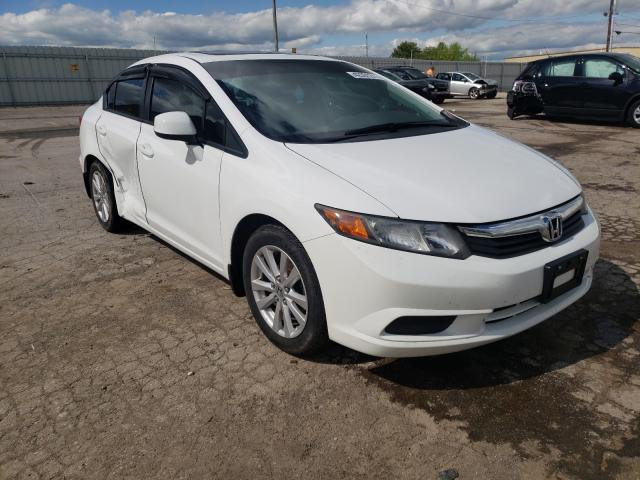 Salvage cars for sale from Copart Lexington, KY: 2012 Honda Civic EXL