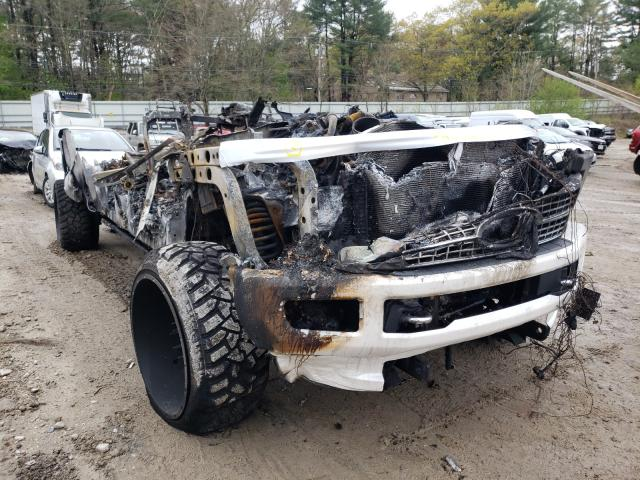 Salvage cars for sale from Copart Mendon, MA: 2017 Ford F350 Super