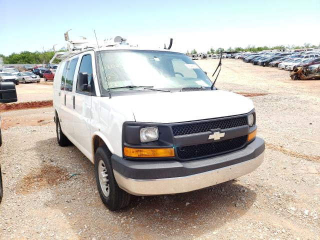 Salvage cars for sale from Copart Oklahoma City, OK: 2014 Chevrolet Express G2