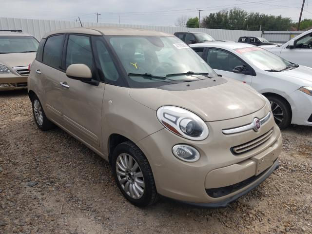 Salvage cars for sale from Copart Mercedes, TX: 2014 Fiat 500L Easy