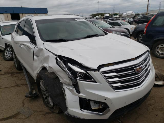 Salvage cars for sale from Copart Woodhaven, MI: 2017 Cadillac XT5 Luxury