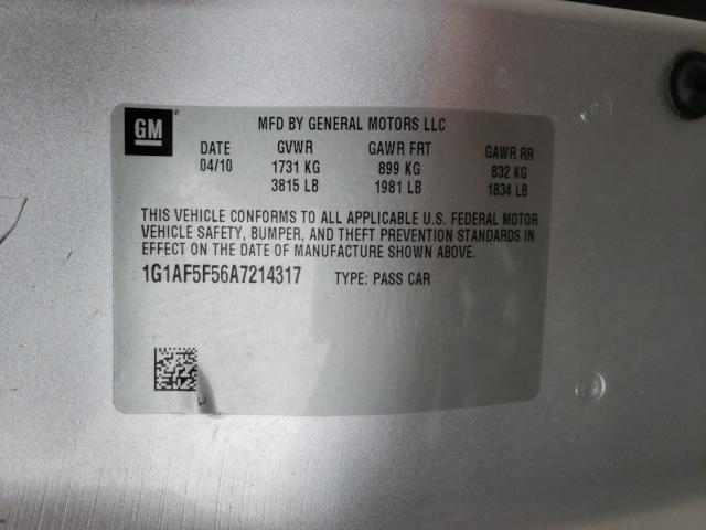 2010 CHEVROLET COBALT 2LT 1G1AF5F56A7214317