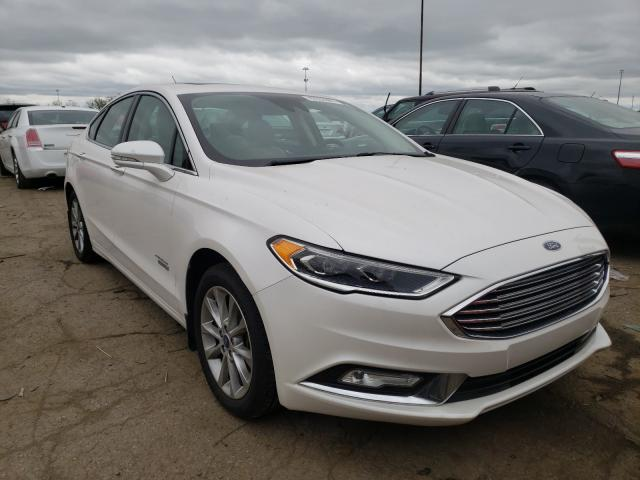 Salvage cars for sale from Copart Woodhaven, MI: 2017 Ford Fusion Titanium