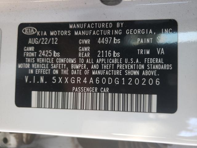 2013 KIA OPTIMA SX 5XXGR4A60DG120206