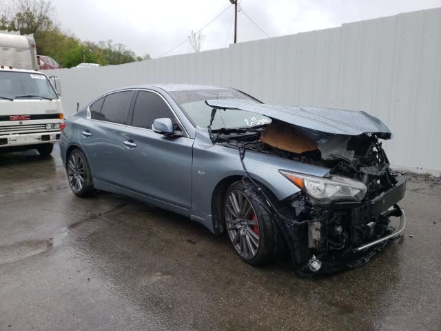 Infiniti salvage cars for sale: 2017 Infiniti Q50 RED SP