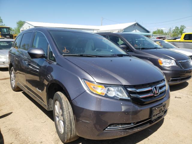 Salvage cars for sale from Copart Pekin, IL: 2016 Honda Odyssey EX