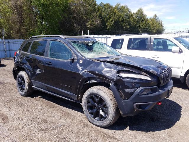 Salvage cars for sale from Copart London, ON: 2015 Jeep Cherokee T