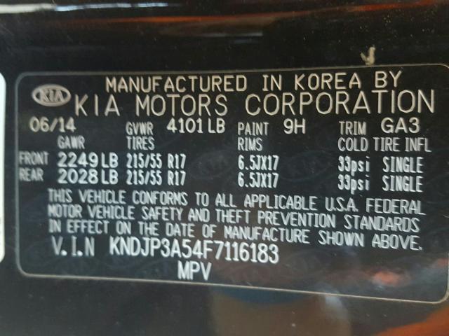 2015 KIA SOUL + KNDJP3A54F7116183