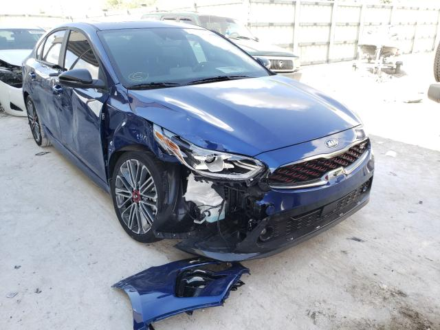 Salvage cars for sale from Copart Homestead, FL: 2021 KIA Forte GT
