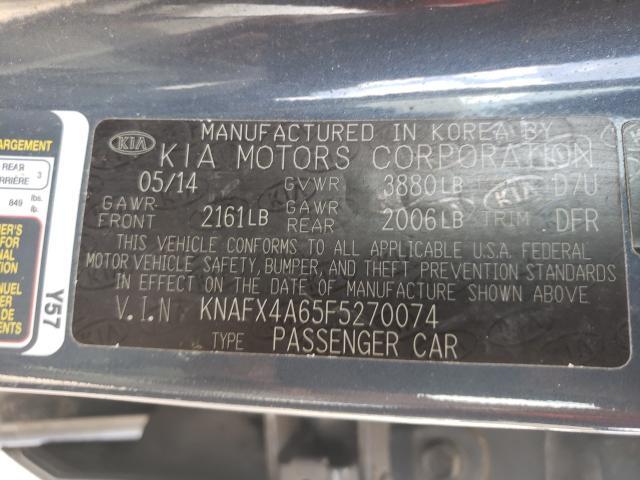 2015 KIA FORTE LX KNAFX4A65F5270074