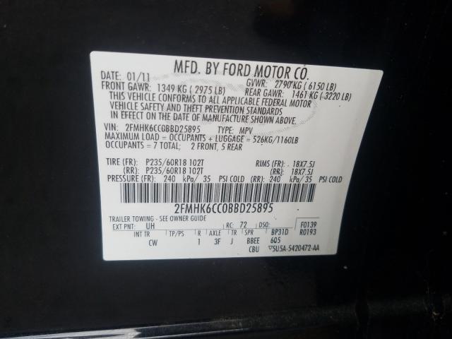 2011 FORD FLEX SEL 2FMHK6CC0BBD25895
