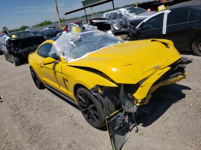 Salvage cars for sale from Copart Houston, TX: 2016 Ford Mustang GT