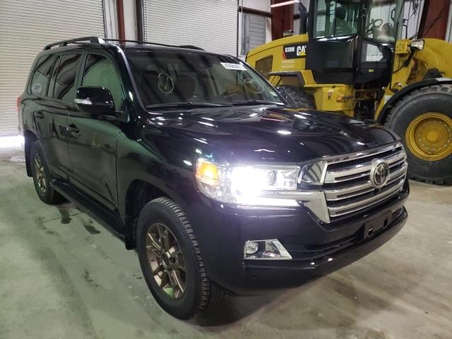Salvage cars for sale at Central Square, NY auction: 2020 Toyota Land Cruiser