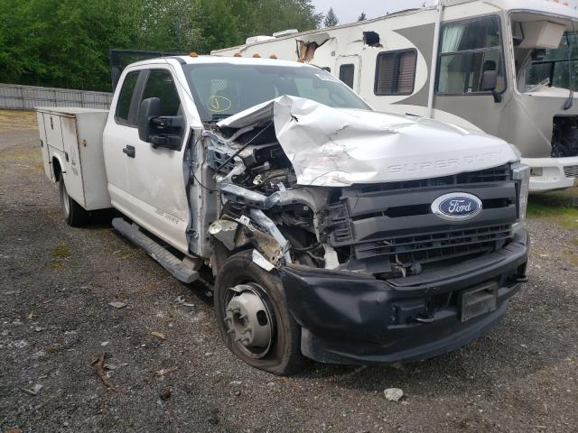 Salvage cars for sale from Copart Arlington, WA: 2019 Ford F350 Super
