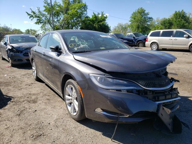 Salvage cars for sale from Copart Baltimore, MD: 2015 Chrysler 200 Limited