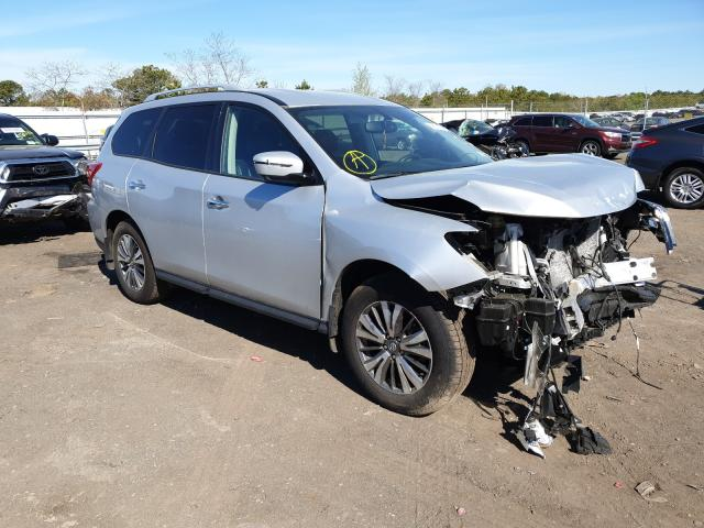 Salvage cars for sale at Brookhaven, NY auction: 2019 Nissan Pathfinder