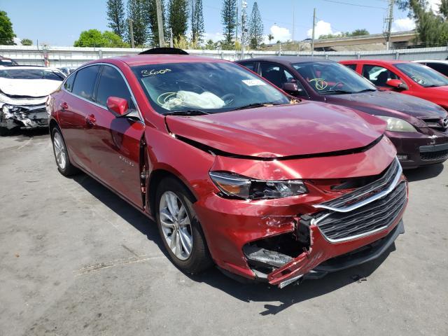 Chevrolet salvage cars for sale: 2016 Chevrolet Malibu LT