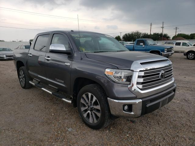 Salvage cars for sale from Copart Mercedes, TX: 2019 Toyota Tundra CRE