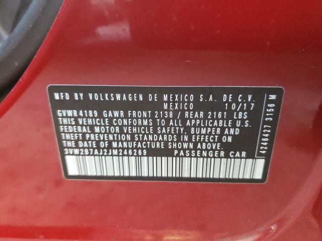 2018 VOLKSWAGEN JETTA S 3VW2B7AJ2JM246269