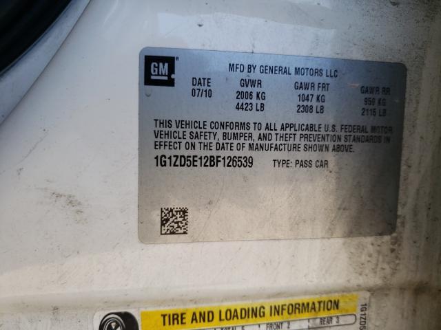 2011 CHEVROLET MALIBU 2LT 1G1ZD5E12BF126539