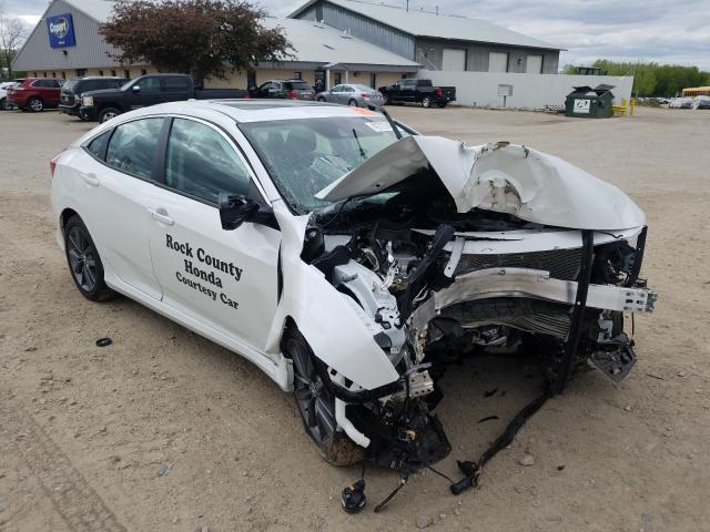 Salvage cars for sale from Copart Madison, WI: 2020 Honda Civic EX