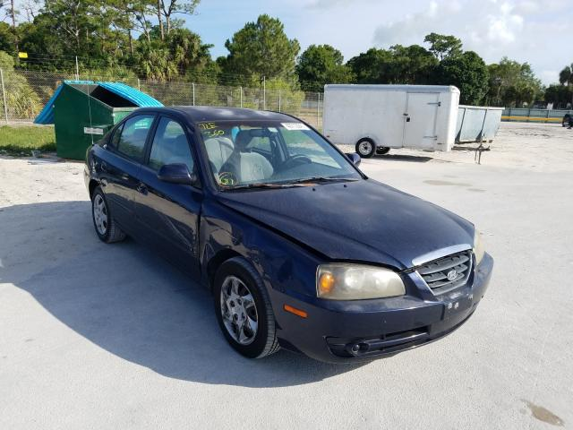 Salvage cars for sale from Copart Fort Pierce, FL: 2005 Hyundai Elantra GL