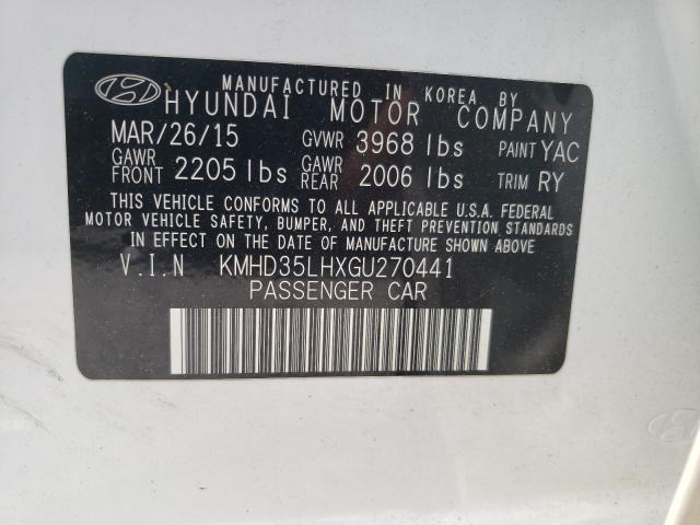 2016 HYUNDAI ELANTRA GT KMHD35LHXGU270441
