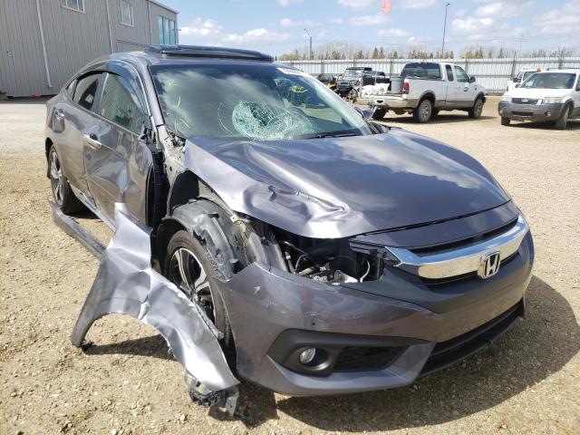 Salvage cars for sale from Copart Nisku, AB: 2018 Honda Civic Touring