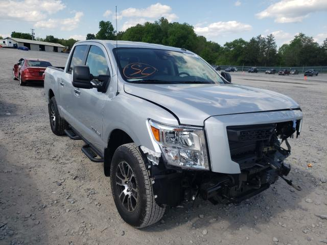 Salvage cars for sale from Copart Madisonville, TN: 2021 Nissan Titan SV