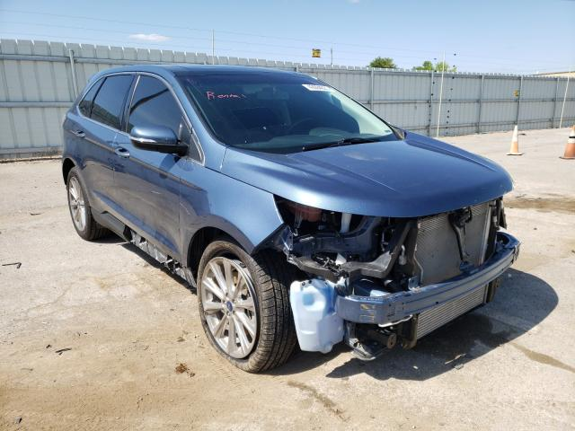 Salvage cars for sale from Copart Lexington, KY: 2018 Ford Edge Titanium