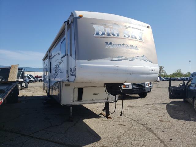 Vehiculos salvage en venta de Copart Woodhaven, MI: 2003 Keystone Travel Trailer