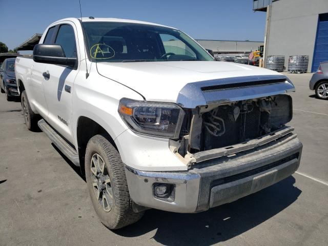Salvage cars for sale from Copart Hayward, CA: 2018 Toyota Tundra DOU