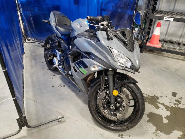 Salvage cars for sale from Copart Spartanburg, SC: 2018 Kawasaki EX650 J