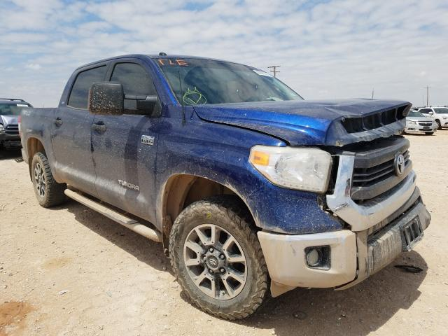 Salvage cars for sale from Copart Andrews, TX: 2015 Toyota Tundra CRE