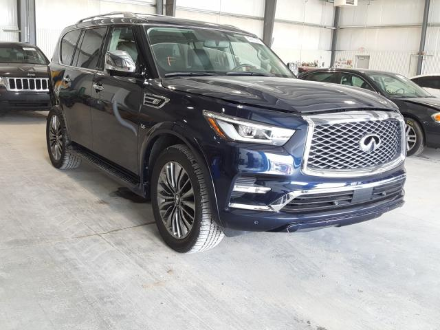 Salvage cars for sale from Copart Greenwood, NE: 2019 Infiniti QX80 Luxe