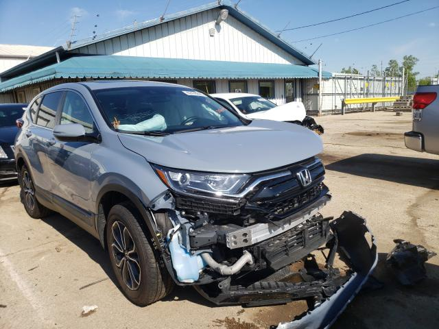 Salvage cars for sale from Copart Pekin, IL: 2021 Honda CR-V EX