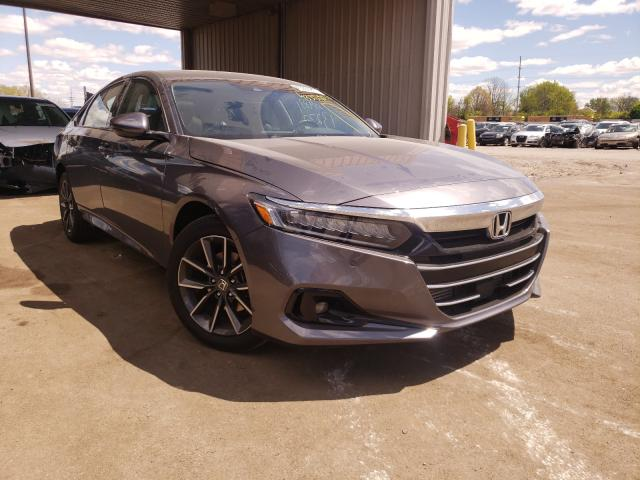 Salvage cars for sale from Copart Fort Wayne, IN: 2021 Honda Accord EXL