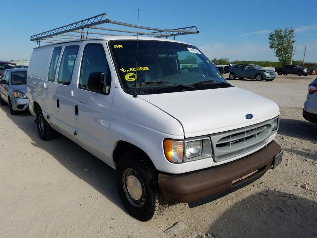 Salvage cars for sale from Copart Kansas City, KS: 2002 Ford Econoline