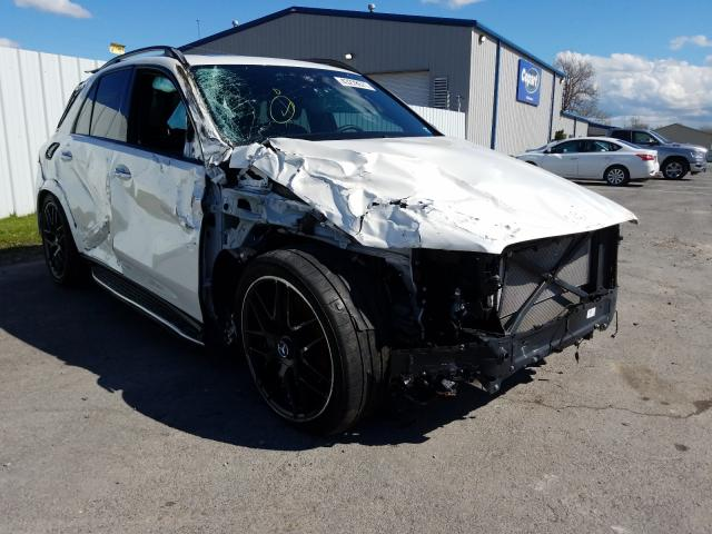 Salvage cars for sale at Central Square, NY auction: 2021 Mercedes-Benz GLE AMG 53