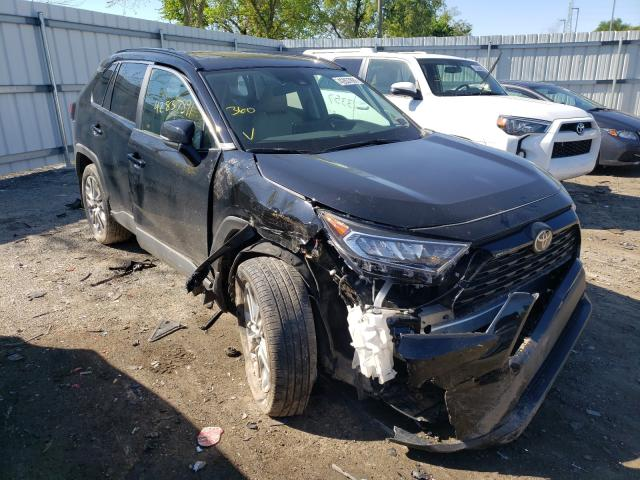 Salvage cars for sale at West Mifflin, PA auction: 2020 Toyota Rav4 XLE P