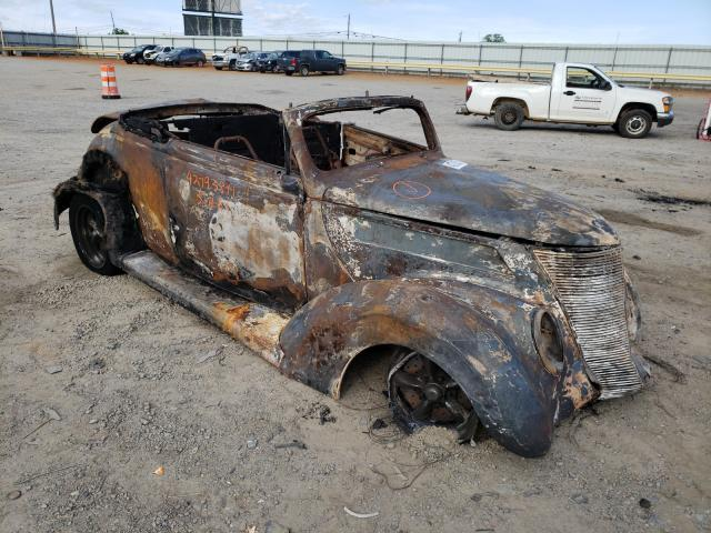 Salvage cars for sale from Copart Chatham, VA: 1937 Ford Convertibl