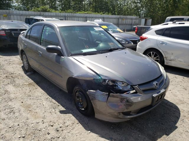 Salvage cars for sale from Copart Arlington, WA: 2005 Honda Civic LX